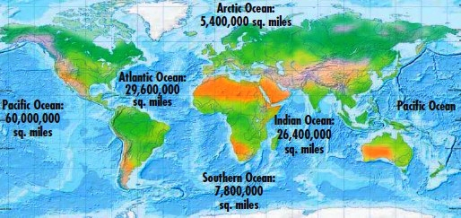 Oceans Formation Of The Oceans Facts About The Oceans - World map oceans seas gulfs